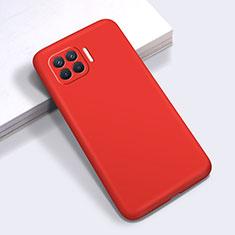 Silikon Hülle Handyhülle Ultra Dünn Flexible Schutzhülle 360 Grad Ganzkörper Tasche für Oppo F17 Pro Rot