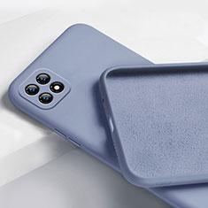 Silikon Hülle Handyhülle Ultra Dünn Flexible Schutzhülle 360 Grad Ganzkörper Tasche für Oppo Reno4 SE 5G Lavendel Grau