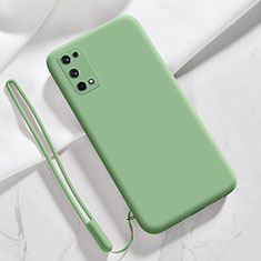 Silikon Hülle Handyhülle Ultra Dünn Flexible Schutzhülle 360 Grad Ganzkörper Tasche für Realme X7 5G Minzgrün