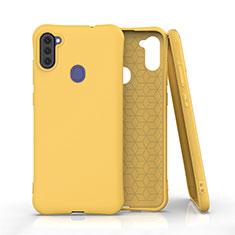 Silikon Hülle Handyhülle Ultra Dünn Flexible Schutzhülle 360 Grad Ganzkörper Tasche für Samsung Galaxy A11 Gelb