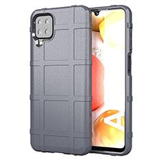 Silikon Hülle Handyhülle Ultra Dünn Flexible Schutzhülle 360 Grad Ganzkörper Tasche für Samsung Galaxy A12 Grau