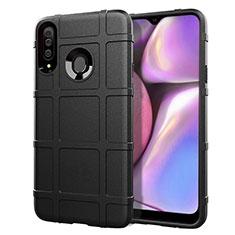 Silikon Hülle Handyhülle Ultra Dünn Flexible Schutzhülle 360 Grad Ganzkörper Tasche für Samsung Galaxy A20s Schwarz