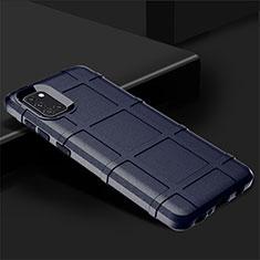 Silikon Hülle Handyhülle Ultra Dünn Flexible Schutzhülle 360 Grad Ganzkörper Tasche für Samsung Galaxy A31 Blau