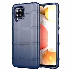 Silikon Hülle Handyhülle Ultra Dünn Flexible Schutzhülle 360 Grad Ganzkörper Tasche für Samsung Galaxy A42 5G Blau