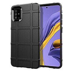 Silikon Hülle Handyhülle Ultra Dünn Flexible Schutzhülle 360 Grad Ganzkörper Tasche für Samsung Galaxy A51 4G Schwarz