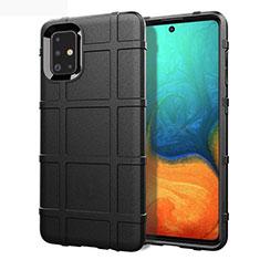Silikon Hülle Handyhülle Ultra Dünn Flexible Schutzhülle 360 Grad Ganzkörper Tasche für Samsung Galaxy A71 5G Schwarz