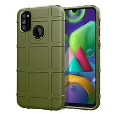 Silikon Hülle Handyhülle Ultra Dünn Flexible Schutzhülle 360 Grad Ganzkörper Tasche für Samsung Galaxy M30s Grün