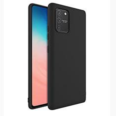 Silikon Hülle Handyhülle Ultra Dünn Flexible Schutzhülle 360 Grad Ganzkörper Tasche für Samsung Galaxy S10 Lite Schwarz