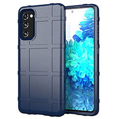 Silikon Hülle Handyhülle Ultra Dünn Flexible Schutzhülle 360 Grad Ganzkörper Tasche für Samsung Galaxy S20 FE 5G Blau