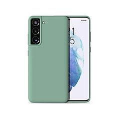 Silikon Hülle Handyhülle Ultra Dünn Flexible Schutzhülle 360 Grad Ganzkörper Tasche für Samsung Galaxy S21 Plus 5G Grün