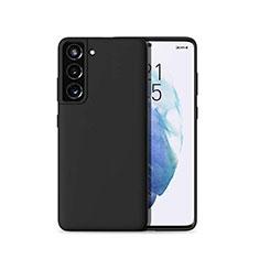 Silikon Hülle Handyhülle Ultra Dünn Flexible Schutzhülle 360 Grad Ganzkörper Tasche für Samsung Galaxy S21 Plus 5G Schwarz