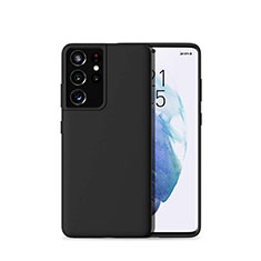 Silikon Hülle Handyhülle Ultra Dünn Flexible Schutzhülle 360 Grad Ganzkörper Tasche für Samsung Galaxy S21 Ultra 5G Schwarz