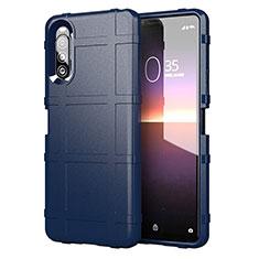 Silikon Hülle Handyhülle Ultra Dünn Flexible Schutzhülle 360 Grad Ganzkörper Tasche für Sony Xperia 10 II Blau