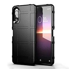 Silikon Hülle Handyhülle Ultra Dünn Flexible Schutzhülle 360 Grad Ganzkörper Tasche für Sony Xperia 10 II Schwarz