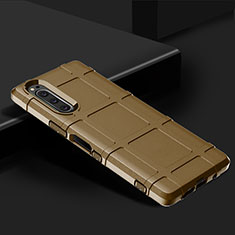 Silikon Hülle Handyhülle Ultra Dünn Flexible Schutzhülle 360 Grad Ganzkörper Tasche für Sony Xperia 5 Braun