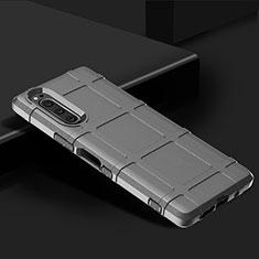 Silikon Hülle Handyhülle Ultra Dünn Flexible Schutzhülle 360 Grad Ganzkörper Tasche für Sony Xperia 5 Silber
