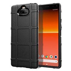 Silikon Hülle Handyhülle Ultra Dünn Flexible Schutzhülle 360 Grad Ganzkörper Tasche für Sony Xperia 8 Lite Schwarz