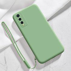 Silikon Hülle Handyhülle Ultra Dünn Flexible Schutzhülle 360 Grad Ganzkörper Tasche für Vivo Y20s Grün