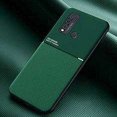 Silikon Hülle Handyhülle Ultra Dünn Flexible Schutzhülle 360 Grad Ganzkörper Tasche für Vivo Y50 Grün