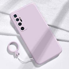 Silikon Hülle Handyhülle Ultra Dünn Flexible Schutzhülle 360 Grad Ganzkörper Tasche für Xiaomi Mi 10 Ultra Helles Lila