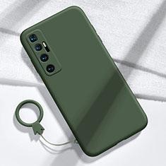Silikon Hülle Handyhülle Ultra Dünn Flexible Schutzhülle 360 Grad Ganzkörper Tasche für Xiaomi Mi 10 Ultra Nachtgrün