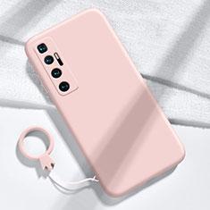 Silikon Hülle Handyhülle Ultra Dünn Flexible Schutzhülle 360 Grad Ganzkörper Tasche für Xiaomi Mi 10 Ultra Rosa