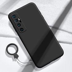 Silikon Hülle Handyhülle Ultra Dünn Flexible Schutzhülle 360 Grad Ganzkörper Tasche für Xiaomi Mi 10 Ultra Schwarz
