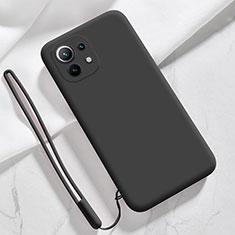 Silikon Hülle Handyhülle Ultra Dünn Flexible Schutzhülle 360 Grad Ganzkörper Tasche für Xiaomi Mi 11 5G Schwarz
