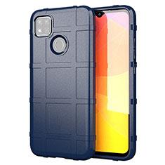 Silikon Hülle Handyhülle Ultra Dünn Flexible Schutzhülle 360 Grad Ganzkörper Tasche für Xiaomi Redmi 9 India Blau
