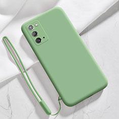 Silikon Hülle Handyhülle Ultra Dünn Flexible Schutzhülle 360 Grad Ganzkörper Tasche N03 für Samsung Galaxy Note 20 5G Minzgrün