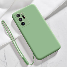 Silikon Hülle Handyhülle Ultra Dünn Flexible Schutzhülle 360 Grad Ganzkörper Tasche N03 für Samsung Galaxy Note 20 Ultra 5G Minzgrün