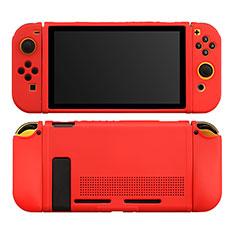 Silikon Hülle Handyhülle Ultra Dünn Flexible Schutzhülle 360 Grad Ganzkörper Tasche S01 für Nintendo Switch Rot