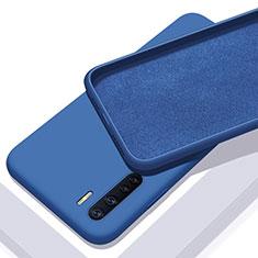Silikon Hülle Handyhülle Ultra Dünn Flexible Schutzhülle 360 Grad Ganzkörper Tasche S01 für Oppo A91 Blau