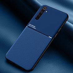 Silikon Hülle Handyhülle Ultra Dünn Flexible Schutzhülle 360 Grad Ganzkörper Tasche S01 für Realme 6 Pro Blau