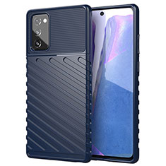 Silikon Hülle Handyhülle Ultra Dünn Flexible Schutzhülle 360 Grad Ganzkörper Tasche S01 für Samsung Galaxy Note 20 5G Blau