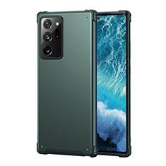 Silikon Hülle Handyhülle Ultra Dünn Flexible Schutzhülle 360 Grad Ganzkörper Tasche S01 für Samsung Galaxy Note 20 Ultra 5G Grün
