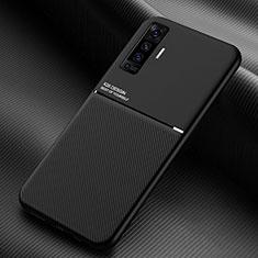 Silikon Hülle Handyhülle Ultra Dünn Flexible Schutzhülle 360 Grad Ganzkörper Tasche S01 für Vivo X50 5G Schwarz