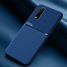 Silikon Hülle Handyhülle Ultra Dünn Flexible Schutzhülle 360 Grad Ganzkörper Tasche S01 für Vivo Y12s Blau