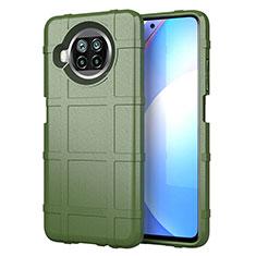 Silikon Hülle Handyhülle Ultra Dünn Flexible Schutzhülle 360 Grad Ganzkörper Tasche S01 für Xiaomi Mi 10i 5G Armee-Grün