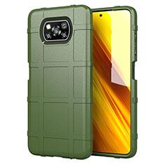 Silikon Hülle Handyhülle Ultra Dünn Flexible Schutzhülle 360 Grad Ganzkörper Tasche S01 für Xiaomi Poco X3 NFC Grün