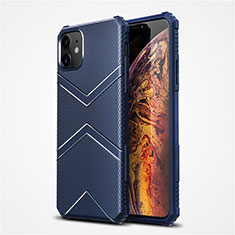 Silikon Hülle Handyhülle Ultra Dünn Flexible Schutzhülle 360 Grad Ganzkörper Tasche S02 für Apple iPhone 12 Blau