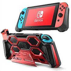 Silikon Hülle Handyhülle Ultra Dünn Flexible Schutzhülle 360 Grad Ganzkörper Tasche S02 für Nintendo Switch Rot