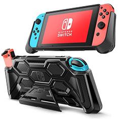 Silikon Hülle Handyhülle Ultra Dünn Flexible Schutzhülle 360 Grad Ganzkörper Tasche S02 für Nintendo Switch Schwarz