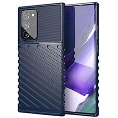 Silikon Hülle Handyhülle Ultra Dünn Flexible Schutzhülle 360 Grad Ganzkörper Tasche S02 für Samsung Galaxy Note 20 Ultra 5G Blau