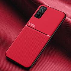 Silikon Hülle Handyhülle Ultra Dünn Flexible Schutzhülle 360 Grad Ganzkörper Tasche S02 für Xiaomi Redmi K30S 5G Rot