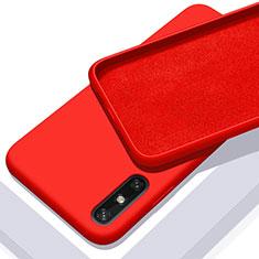 Silikon Hülle Handyhülle Ultra Dünn Flexible Schutzhülle 360 Grad Ganzkörper Tasche S03 für Huawei Enjoy 10e Rot
