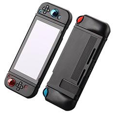 Silikon Hülle Handyhülle Ultra Dünn Flexible Schutzhülle 360 Grad Ganzkörper Tasche S03 für Nintendo Switch Schwarz