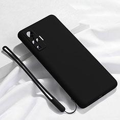 Silikon Hülle Handyhülle Ultra Dünn Flexible Schutzhülle 360 Grad Ganzkörper Tasche S03 für Vivo X51 5G Schwarz