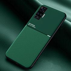 Silikon Hülle Handyhülle Ultra Dünn Flexible Schutzhülle 360 Grad Ganzkörper Tasche S04 für Vivo X51 5G Grün