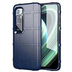 Silikon Hülle Handyhülle Ultra Dünn Flexible Schutzhülle 360 Grad Ganzkörper Tasche S05 für Xiaomi Mi 10 Ultra Blau